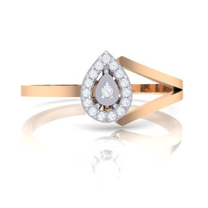 18Kt rose gold real diamond ring 35(2) by diamtrendz