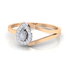 Load image into Gallery viewer, 18Kt rose gold real diamond ring 35(3) by diamtrendz