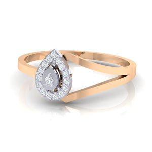 18Kt rose gold real diamond ring 35(3) by diamtrendz