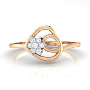 18Kt rose gold real diamond ring 37(2) by diamtrendz