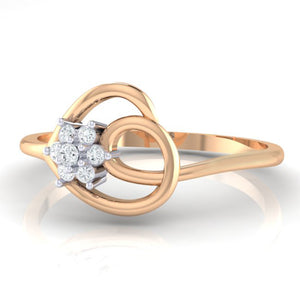 18Kt rose gold real diamond ring 37(3) by diamtrendz