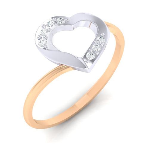 18Kt rose gold real diamond ring 38(1) by diamtrendz