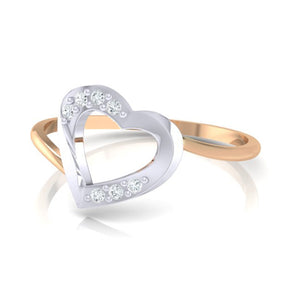 18Kt rose gold real diamond ring 38(2) by diamtrendz