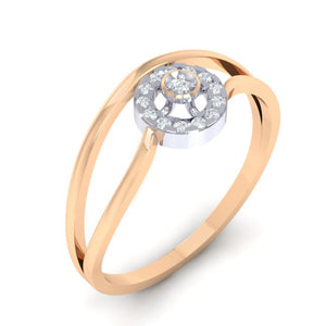 18Kt rose gold real diamond ring 39(1) by diamtrendz