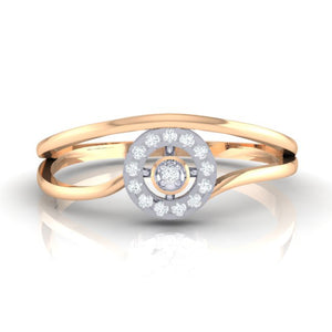 18Kt rose gold real diamond ring 39(2) by diamtrendz