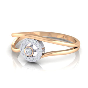 18Kt rose gold real diamond ring 39(3) by diamtrendz