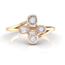 Load image into Gallery viewer, 18Kt rose gold real diamond ring 40(2) by diamtrendz