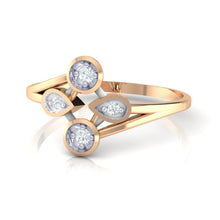 Load image into Gallery viewer, 18Kt rose gold real diamond ring 40(3) by diamtrendz
