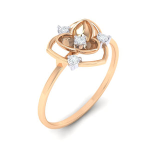 18Kt rose gold real diamond ring 41(1) by diamtrendz