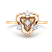 Load image into Gallery viewer, 18Kt rose gold real diamond ring 41(2) by diamtrendz