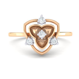 18Kt rose gold real diamond ring 41(2) by diamtrendz