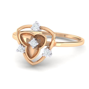 18Kt rose gold real diamond ring 41(3) by diamtrendz