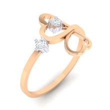 Load image into Gallery viewer, 18Kt rose gold real diamond ring 42(1) by diamtrendz