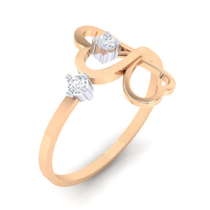 18Kt rose gold real diamond ring 42(1) by diamtrendz