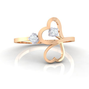 18Kt rose gold real diamond ring 42(2) by diamtrendz