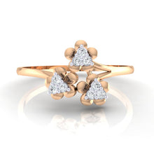 Load image into Gallery viewer, 18Kt rose gold real diamond ring 43(2) by diamtrendz