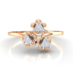 18Kt rose gold real diamond ring 43(2) by diamtrendz
