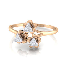 Load image into Gallery viewer, 18Kt rose gold real diamond ring 43(3) by diamtrendz