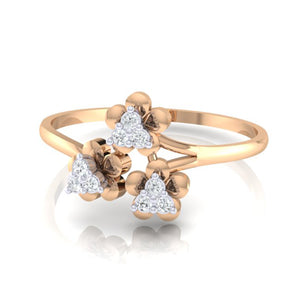 18Kt rose gold real diamond ring 43(3) by diamtrendz