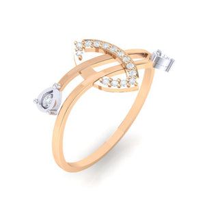 18Kt rose gold real diamond ring 44(1) by diamtrendz