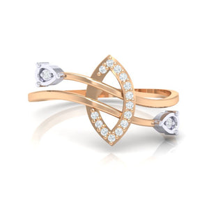 18Kt rose gold real diamond ring 44(2) by diamtrendz