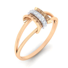 Load image into Gallery viewer, 18Kt rose gold real diamond ring 45(1) by diamtrendz