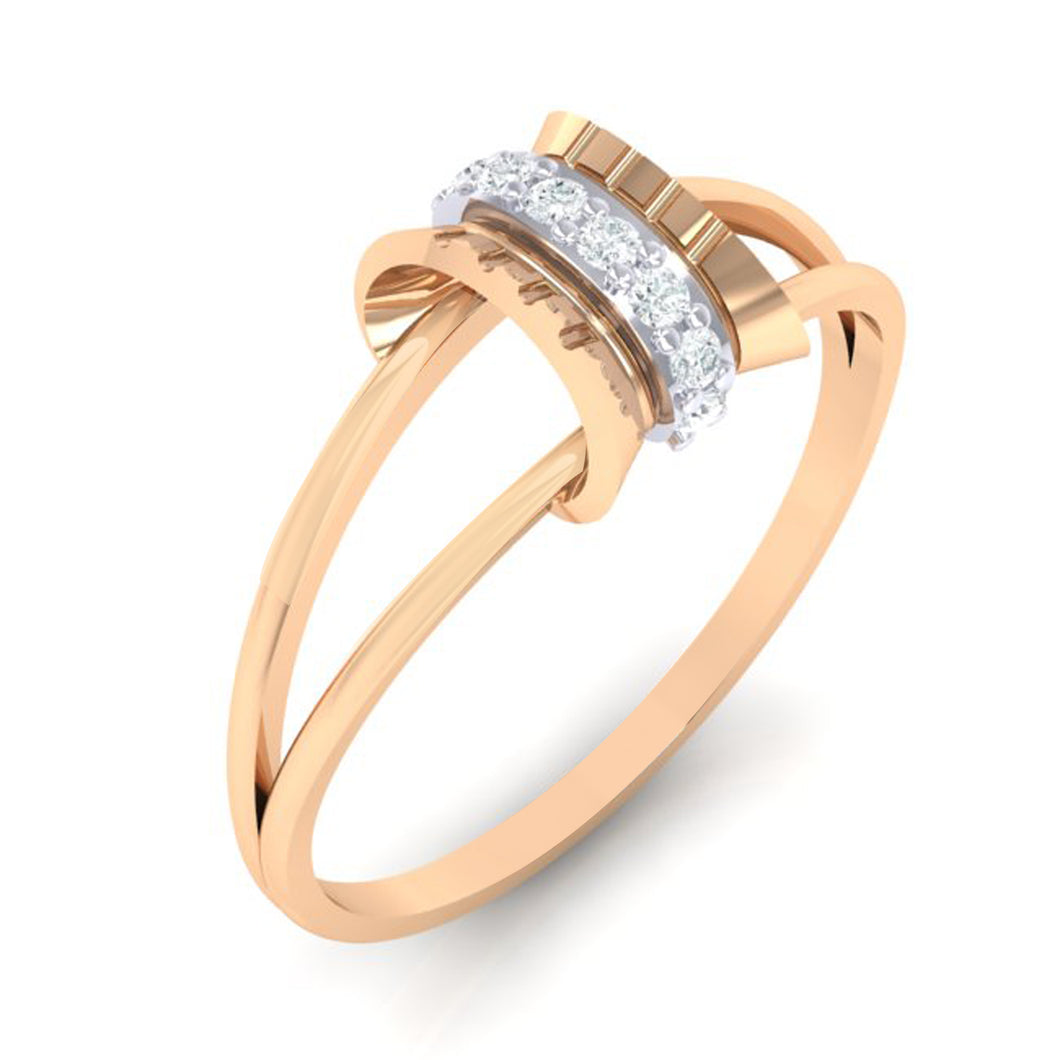 18Kt rose gold real diamond ring 45(1) by diamtrendz
