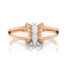 Load image into Gallery viewer, 18Kt rose gold real diamond ring 45(2) by diamtrendz