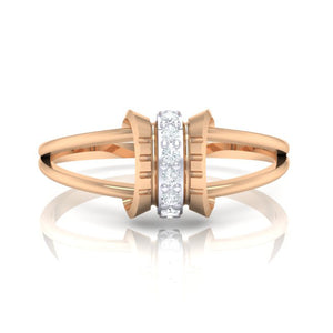 18Kt rose gold real diamond ring 45(2) by diamtrendz