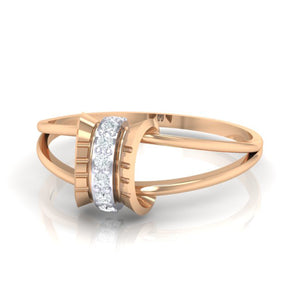 18Kt rose gold real diamond ring 45(3) by diamtrendz