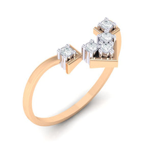 18Kt rose gold real diamond ring 47(1) by diamtrendz