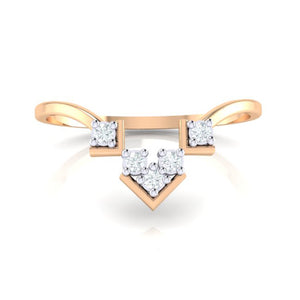 18Kt rose gold real diamond ring 47(2) by diamtrendz