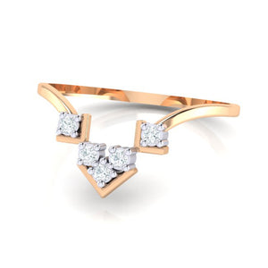 18Kt rose gold real diamond ring 47(3) by diamtrendz