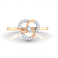 Load image into Gallery viewer, 18Kt rose gold real diamond ring 51(2) by diamtrendz