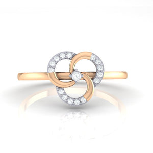 18Kt rose gold real diamond ring 51(2) by diamtrendz