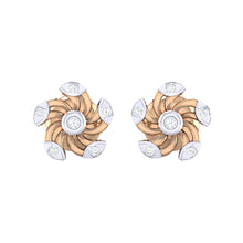 Load image into Gallery viewer, 18Kt rose gold real diamond stud earring 52(2) by diamtrendz