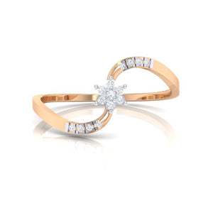 18Kt rose gold real diamond ring 53(2) by diamtrendz
