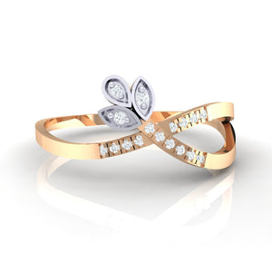 18Kt rose gold real diamond ring 54(2) by diamtrendz