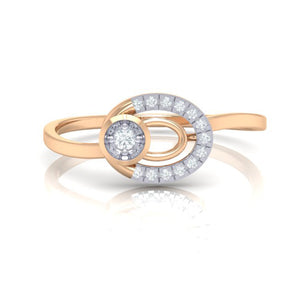 18Kt rose gold real diamond ring 55(2) by diamtrendz