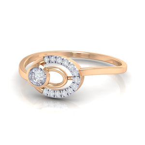 18Kt rose gold real diamond ring 55(3) by diamtrendz