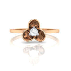 18Kt rose gold real diamond ring 56(2) by diamtrendz