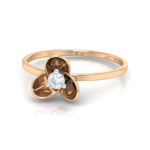 18Kt rose gold real diamond ring 56(3) by diamtrendz