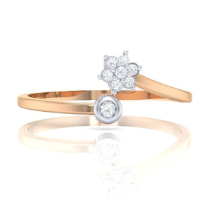 18Kt rose gold real diamond ring 57(2) by diamtrendz