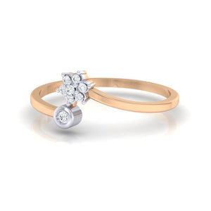 18Kt rose gold real diamond ring 57(3) by diamtrendz