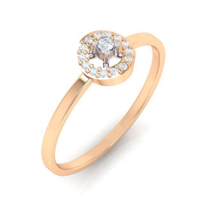 18Kt rose gold solitaire diamond ring by diamtrendz
