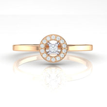 Load image into Gallery viewer, 18Kt rose gold solitaire diamond ring by diamtrendz
