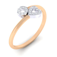 Load image into Gallery viewer, 18Kt Gold Diamond Ring - Heart