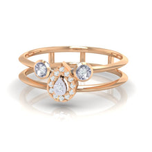Load image into Gallery viewer, 18Kt rose gold pear diamond ring by diamtrendz