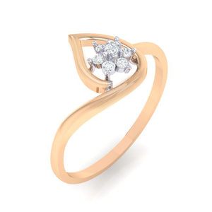 18Kt rose gold pear diamond ring by diamtrendz