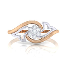 Load image into Gallery viewer, 18Kt rose gold Floral diamond ring by diamtrendz